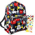 """Mickey Mouse Backpack for Boys Girls Kids - 16"""" Disney Mickey Mouse School Backpack Bag Bundle with Stickers (Mickey Mouse School Supplies)"""