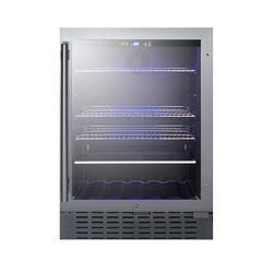 Summit SCR2466B 24 Inch Wide 4.2 Cu. Ft. Merchandiser Refrigerator Stainless Steel