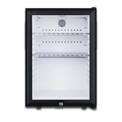 Summit MB27G 16 Inch Wide 1.2 Cu. Ft. Compact Refrigerator with Locking Display Door Black