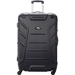High Sierra 89451-1041 Rocshell Hardside Spinner Luggage, Black, Checked-Large 28-Inch