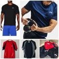 Under Armour Shirts | 3 Under Armour Heat Gear T-Shirts Sz Md | Color: Black/Red | Size: Under Armour Size Md