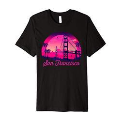 California San Francisco Shirt Skyline Vintage Souvenir Premium T-Shirt