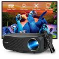 Native 1080P Outdoor Movie Projector Full HD Home Theater 7200 Lumen Gaming Video LCD Projector Digital Zoom HDMI USB VGA AV for DVD Player Fire TV Stick PS5 Wii HDD Smart Phone Laptop Tablet PC