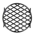 Hongso 8834 Gourmet BBQ System Sear Grate for 22.5 inch Weber Charcoal Grills, Porcelain Enamel Cast Iron Cooking Grill Grate Round Barbecue Replacement (12 inch), PCH834