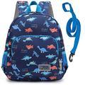 willikiva 3D Dinosaur Backpack Toddler Backpacks for Boys and Girls Kids Backpack Waterproof Preschool Safety Harness Leash (Funny Dinosaur)
