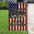 "Flags-Right to Bear Arms Trump Flag PS224F, Garden Flag (11.5"" x 17.5"")-USA House Garden Flags Premium Polyester-Decorative Outdoor Flags"