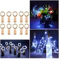 Wine Bottle Lights, 10 Pack Bottle Lights with Cork 2M 20 LEDs Copper Wire Battery Operated Wine Lights LED String Lights f (Cool White)
