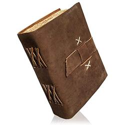 Leather Bound Journal - Handmade Antique Deckle Edge Paper - Leather Sketchbook - Book of Shadows Journal - Thick Journal - Vintage Journal for Men and Women Handcrafted Journal Travel Diary