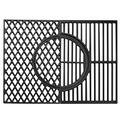"X Home 7524 Grill Grates for Weber Genesis 300 Series, 19.5 3-in-1 Grill Parts Genesis E/S - 310, 320, 330, Upgraded Sear Grate with Gourmet BBQ System, 19.5"" x 12.9"" Cast Iron Cooking Grates, 2-Pack"
