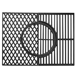 X Home 7638 Grill Grates for Weber Spirit 300 Series, Upgraded 3-in-1 Cast-Iron Cooking Grate with Gourmet BBQ System - 17.5 x 11.9 inch