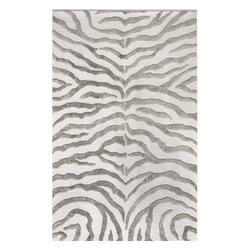 nuLOOM Indoor Rugs Grey - Light Gray Zebra Wool Rug
