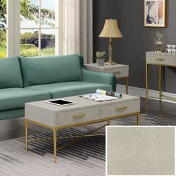 Ashley Coffee Table in Beige/Gold - Convenience Concepts 413182BG