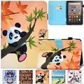 Kindle Fire HD 8 Plus 2020 Case, Artyond PU Leather Card Slot Smart Cover with Auto Sleep/Wake Slim Stand Case for Amazon Kindle Fire HD 8 Plus/Fire HD 8 10th Gen 2020 Release (Maple Panda)