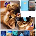 Kindle Fire HD 8 Plus 2020 Case, Artyond PU Leather Card Slot Smart Cover with Auto Sleep/Wake Slim Stand Case for Amazon Kindle Fire HD 8 Plus/Fire HD 8 10th Gen 2020 Release, Cute Cat