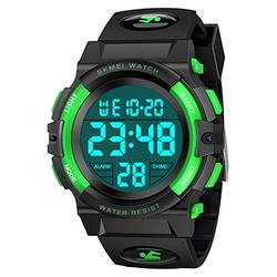 Dreamingbox Digital Watches for Boys Kids, Outdoor Sports 50M Waterproof Electronic Watches Easter Birthday Gifts for Boys Sports Watch for Boys Digital Watch for Kids Boys Green