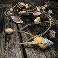 Natural Ocean Conch String Lights, TAMOYO Dedroom Decoration String Lights 8.5 FT 39 LEDs, Battery Operated Lights for Wedding, Birthday, Beach Themed Party, Bedroom, Summer Décor