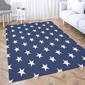 Dethel 2X3 Navy Blue Area Rug,Area Rug Bedroom Rectangle Area Rug 3'X5' Area Rugs Small Area Rugs for Kids White Stars Blue Background for Home Décor,Indoor,Living,Dining Room