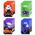 TOYANDONA 120 Pack Halloween Bags Bulk for Halloween Goodie Bags, Halloween Candy Bags, Halloween Treat Bags, Halloween Trick or Treat Bags, Halloween Party Favors Bags, 4 Patterns