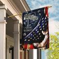 "Flags-Postal Worker Diamond Mailbox Flag DDH1450, Garden Flag (11.5"" x 17.5"")-USA House Garden Flags Premium Polyester-Decorative Outdoor Flags"
