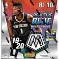 2019-20 Panini MOSAIC Basketball Card Factory Sealed MEGA Box - Exclusive REACTIVE BLUE PRIZMs - 80 Cards per Box - Find Zion Williamson and Ja Morant Rookie Cards!