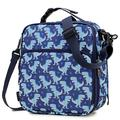 Lunch Box for Boys,RAVUO Large Insulated Lunch Bag for Kids Children Reusable Cooler Thermal Meal Tote Kit with Handle and Detachable Shoulder Strap Cute Dinosaurs Lunch Tote Blue