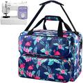 Sewing Machine Case Compatible with Singer/Brother/Janome Sewing Machines. Universal Travel Tote Bag Hold More Sewing Kits. Sewing Machine Bag with Multiple Storage Pockets and Shoulder Strap -Blue