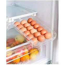 Skywin Refrigerator Egg Drawer - Snap-on Egg Holder for Refrigerator Organizes and Protects Eggs - Adjustable and Space Saving Egg Storage Container For Refrigerator