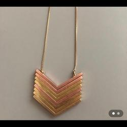 Madewell Jewelry   Arrow Necklace In Gold And Rose Gold   Color: Gold   Size: Os