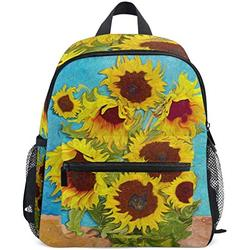 NB UUD Mini Backpack Van Gogh Sunflower Floral Daily Backpack for Travel