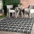 nuLOOM Saunders Geometric Indoor/Outdoor Area Rug, 4' x 6', Dark Grey