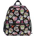 NB UUD Mini Backpack Day of The Dead Sugar Skull Daily Backpack for Travel