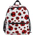 NB UUD Mini Backpack Animal Ladybug Print Daily Backpack for Travel