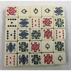 25 Six Sided Poker Dice Brand New With Out Dice Cup Fun Times with 25 Poker Dice