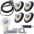Upgraded Dryer Repair Kit Compatible with LG Kenmore Dryers Includes 4581EL2002C Dryer Drum Roller 4400EL2001A Dryer Belt and 4561EL3002A Dryer Idler Pulley, Figures 5 and 6 are Fit Models.