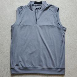 Adidas Jackets & Coats | Adidas Mens Golf Club 14 Zip Vest, Grey, Sz L | Color: Gray | Size: L
