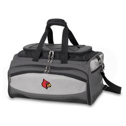 Louisville Cardinals Portable Charcoal Grill & Cooler Tote