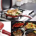 Poêle à griller portative à double face japonaise professionnelle à double casserole, casserole antiadhésive à double omelette