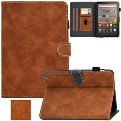 Kindle Fire HD 8 Plus 2020 Case, Artyond PU Leather Card Slot Smart Cover with Auto Sleep/Wake Slim Stand Case for Amazon Kindle Fire HD 8 Plus/Fire HD 8 10th Gen 2020 Release (Brown)