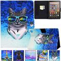 Kindle Fire HD 8 Plus 2020 Case, Artyond PU Leather Card Slot Smart Cover with Auto Sleep/Wake Slim Stand Case for Amazon Kindle Fire HD 8 Plus/Fire HD 8 10th Gen 2020 Release (Music Cat)