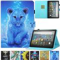 Kindle Fire HD 8 Plus 2020 Case, Artyond PU Leather Card Slot Smart Cover with Auto Sleep/Wake Slim Stand Case for Amazon Kindle Fire HD 8 Plus/Fire HD 8 10th Gen 2020 Release (Cute Tiger)