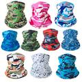 Neck Gaiter Mask Breathable Face Cover Cooling Sun Proof Face Mask Bandana Cloth Washable Face Scarf 10 PCS