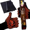BBQ Gloves and Grill Mats Set – Extra Large Extreme-Heat-Resistant BBQ Gloves with Nonslip Silicone Grip – Grilling Kit Includes Nonstick Grill Mats & Recipe eBook by All4Grill