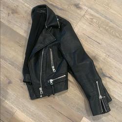 Zara Jackets & Coats   Black Jean Jacket With Removable Fur Collar   Color: Black   Size: Xs