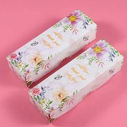 50 Pcs Cookie Cadeau Boîte De Papier Flamingo Fleur Chocolat Bonbons Nougat Noix Sac D'emballage DIY De Noce Cadeau Emballage Boîtes