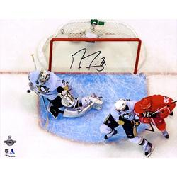 """Marc-Andre Fleury Pittsburgh Penguins Autographed 16"""" x 20"""" 2009 NHL Stanley Cup Finals Game 7 Series-Clinching Save Photograph"""