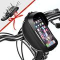"Bike Phone Mount Bag Bicycle Phone Front Frame Bag, Waterproof Bike Phone Holder Handlebar Bags with Bike Repair Tool Kits for Mountain & Road Bike Fit Phone Under 6.5"" iPhone 11 Pro XS Max S10 Plus"