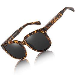 Duco Women's Shades Classic Oversized Polarized Sunglasses for Women Ladies 100% UV Protection 2148 (Brown Tortoise)