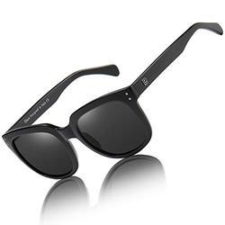 Duco Women's Shades Classic Oversized Polarized Sunglasses for Women Ladies 100% UV Protection 2148 (Black)
