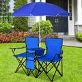 Arlmont & Co. Quincy Portable Folding Camping Chair Metal in Black/Blue/Green, Size 35.0 H x 60.0 W x 20.5 D in   Wayfair