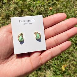 Kate Spade Jewelry | Animal Party Monkey Studs | Color: Gold/Green | Size: Os